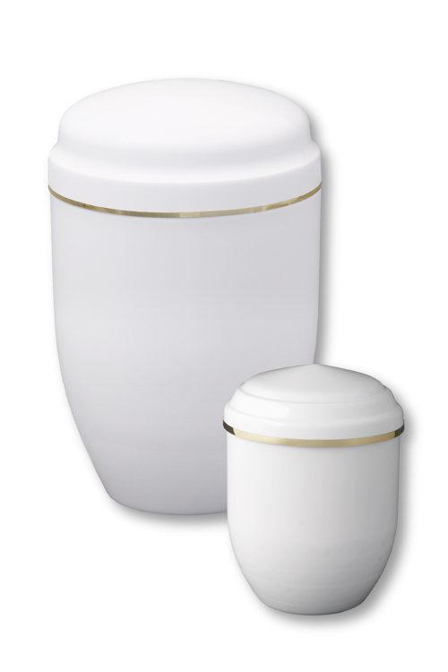 Deux urnes funéraires blanches