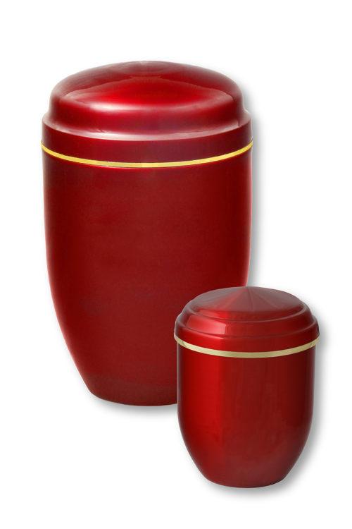 Deux urnes funéraires rouges