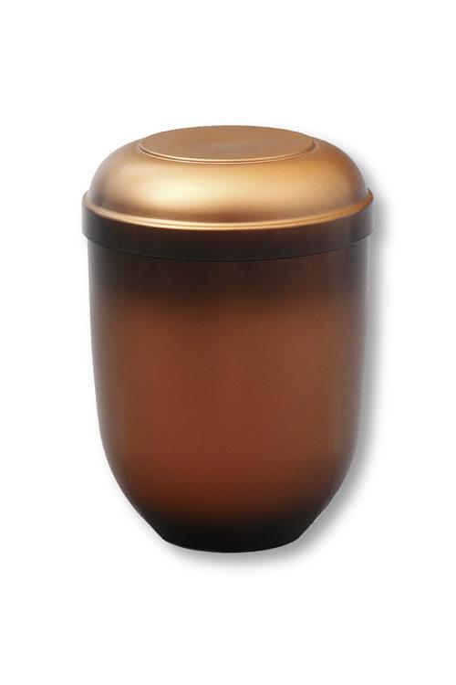 Petite urne funéraire brune